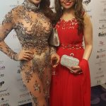 With Lizzie Cundy